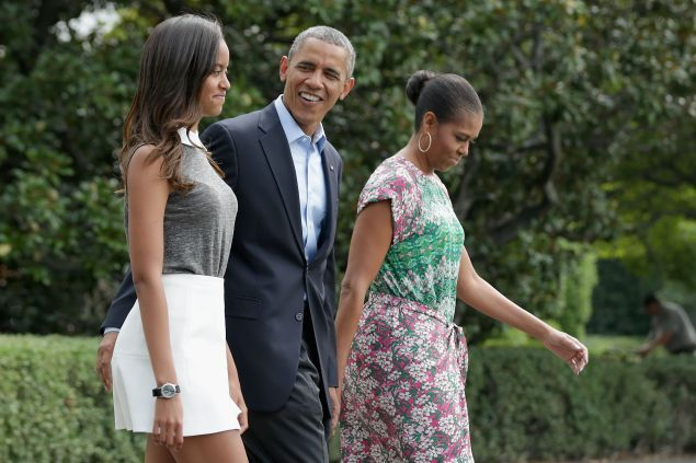 Barack Obama didn't come along on the girls-only trip.