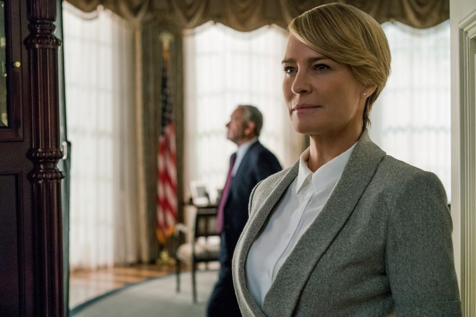 President's Day House of Cards Calire Underwoof Robin Wright Interview