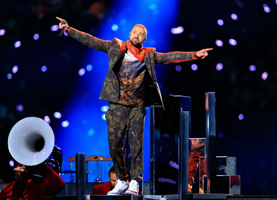 Super Bowl Justin Timberlake Prince Tribute