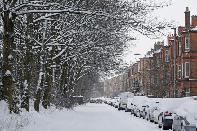 Glasgow isn't accustomed to major snowstorms.