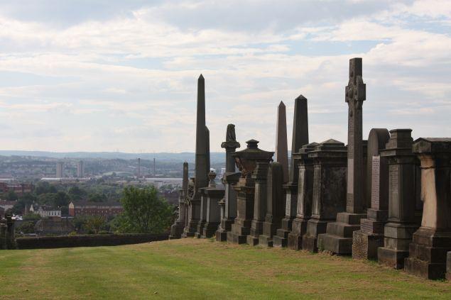 The Glasgow Necropolis.