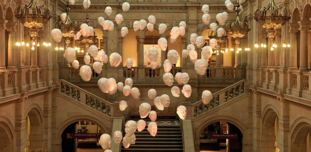 The Floating Heads exhibition at Kelvingrove.