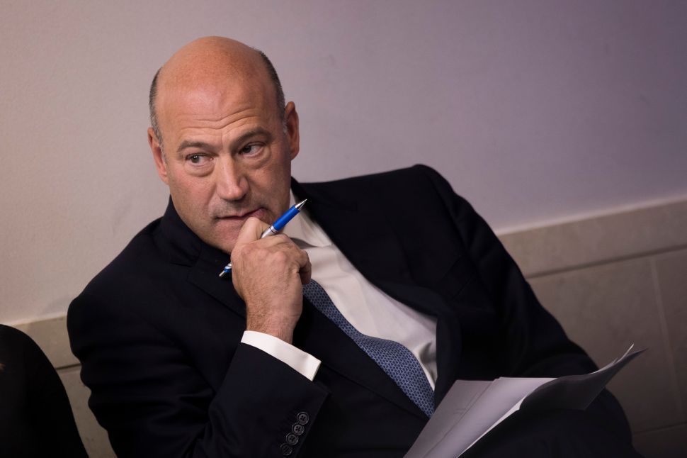 Gary Cohn, Trump's former director of the National Economic Council.