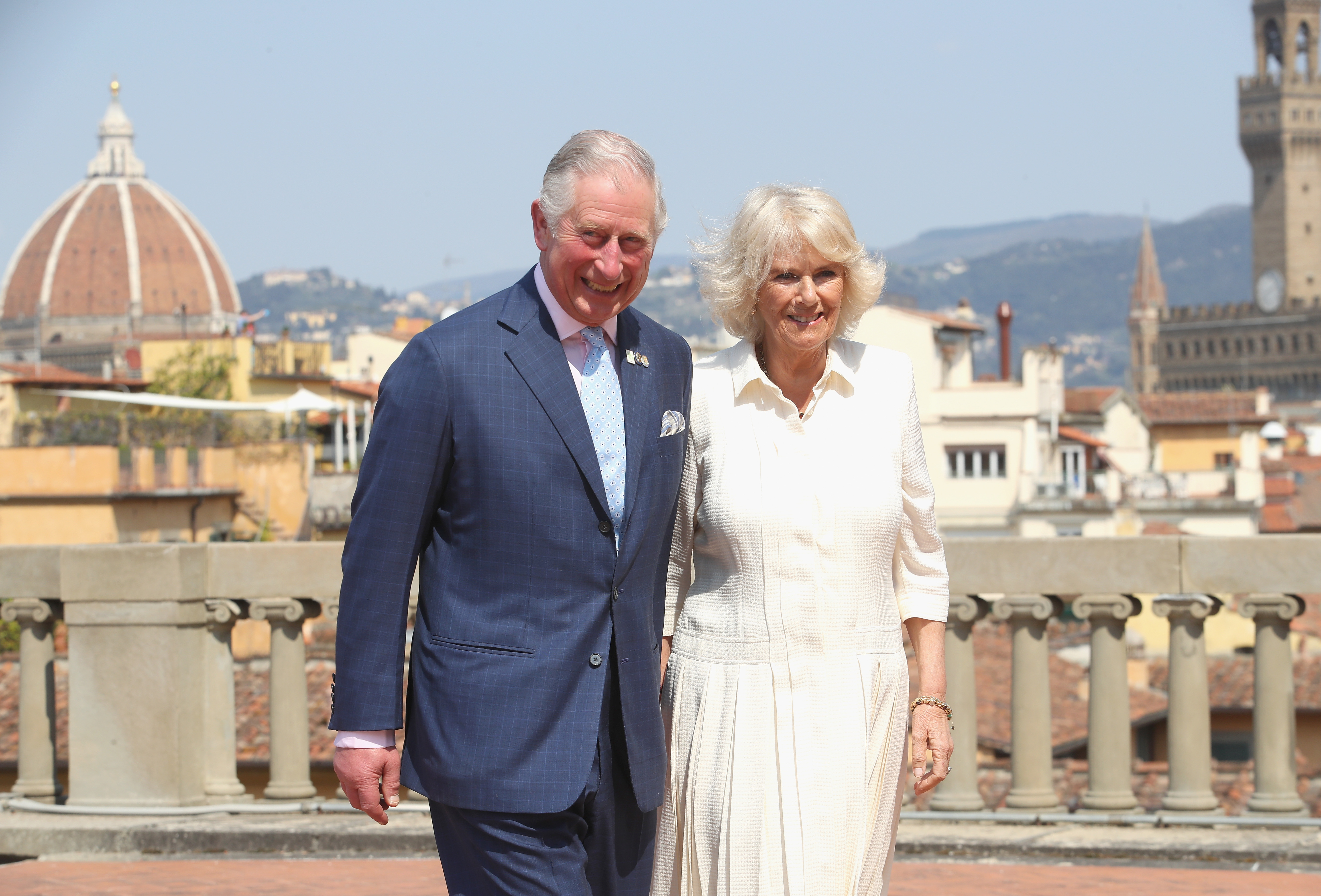 Prince Charles, Prince of Wales and Camilla, Duchess of Cornwall attend an event for the Italian Wool Industry and the Prince of Wales's Campaign for Wool at Palazzo Pitti, on April 3, 2017 in Florence, Italy. Their Royal Highnesses will be introduced to representatives from Woolmark and the Campaign for Wool, view product demonstrations, learn about innovative wool techniques and be given a tour of the palace's Art Gallery. The Prince of Wales launched the Campaign for Wool in January 2010 as an initiative to expand the market for British and Commonwealth wool and promote awareness of its environmental benefits. (