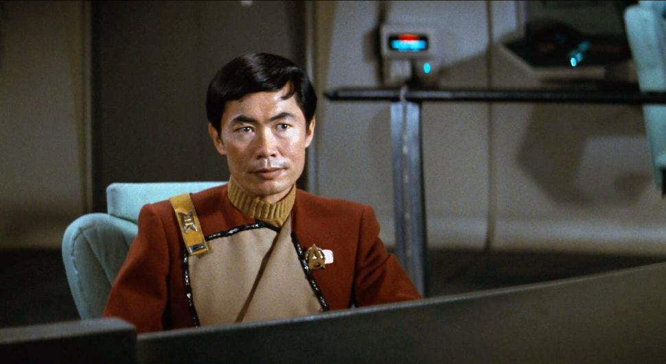George Takei as Lieutenant Sulu in the Star Trek II: The Wrath of Khan