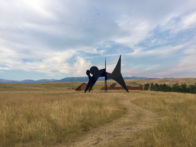 A work by Alexander Calder on view at Tippet Rise.