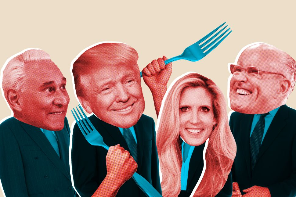 Trump superstars Roger Stone, Ann Coulter and Rudy Giuliani are all regulars at the Beach Café.