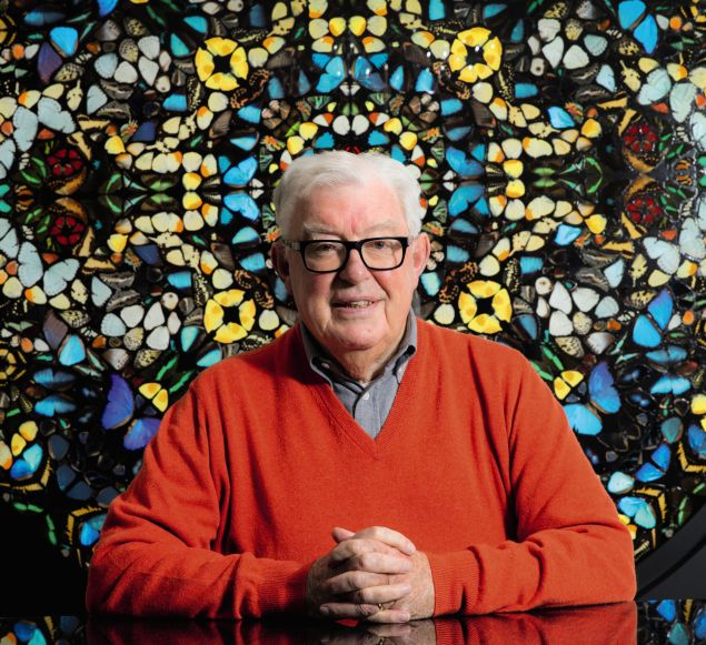 A portrait of Frank Dunphy, who was once the business manager of artist Damien Hirst.