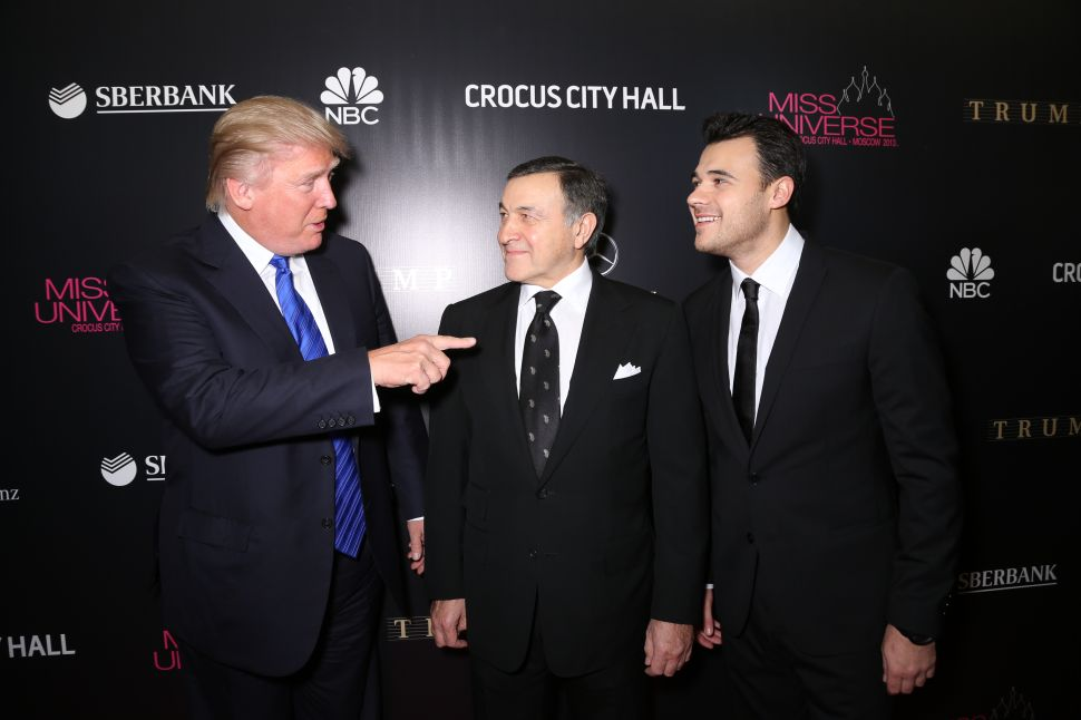 Donald Trump, Aras Agalarov and Emin Agalarov