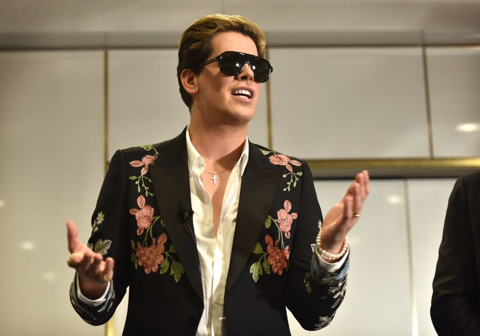 Right-wing provocateur Milo Yiannopoulos.
