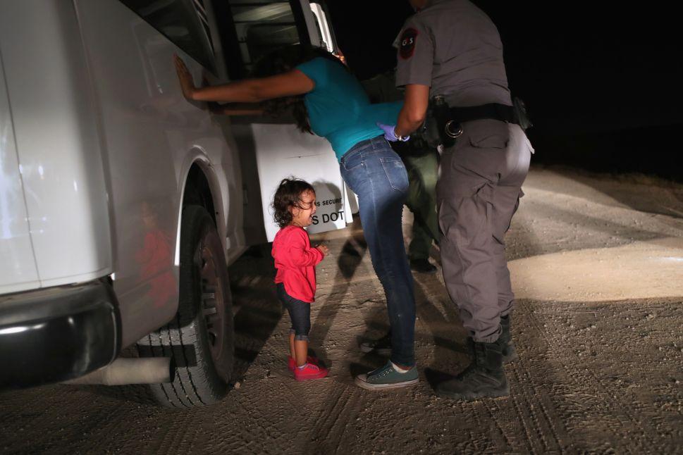 A two-year-old Honduran asylum seeker.