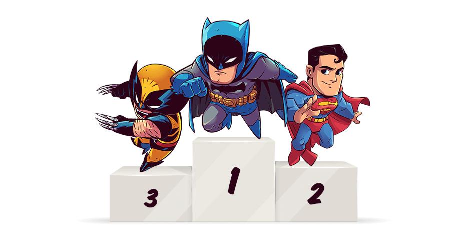 Most Popular Superheros