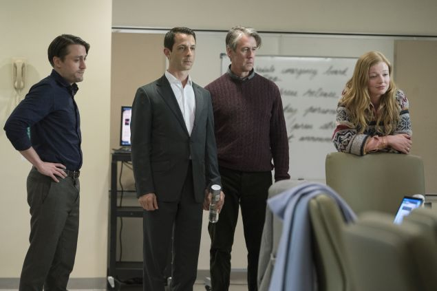 Kieran Culkin, Jeremy Strong, Alan Ruck and Sarah Snook in Succession.