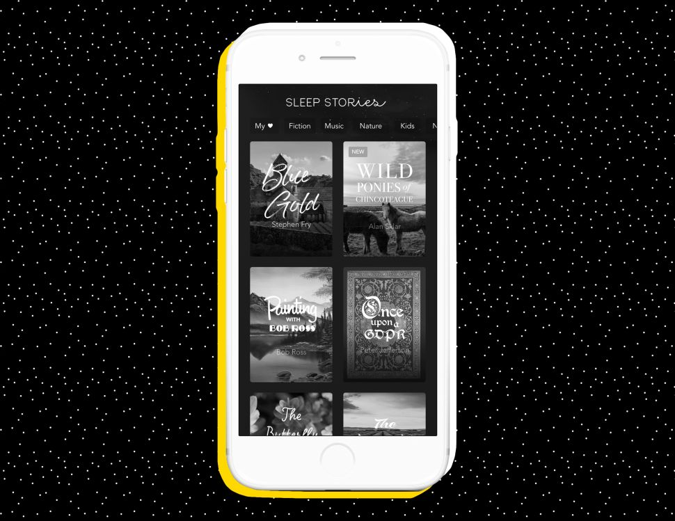 Sleep Stories featured on the Calm app.