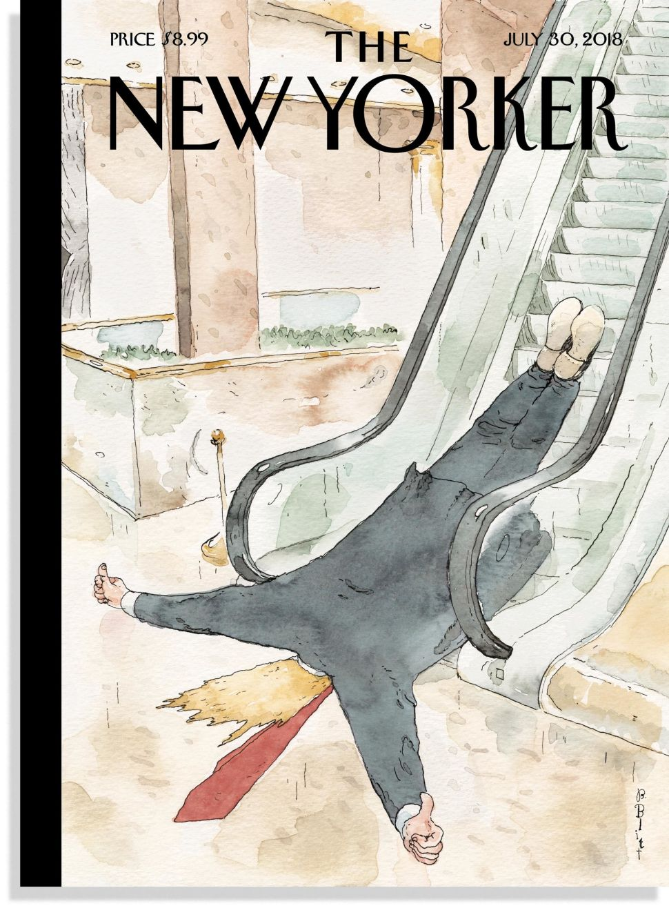 "The New Yorker's ""Thumbs-Up"" cover featuring President Donald Trump."