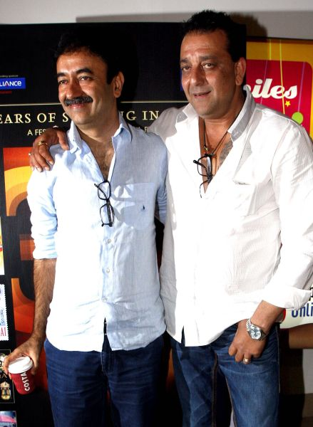 Rajkumar Hirani and Sanjay Dutt photographed in 2012.