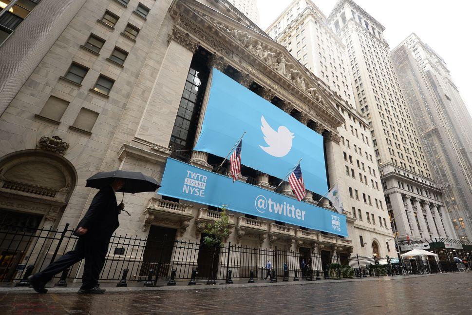 Twitter stock plummet 19%