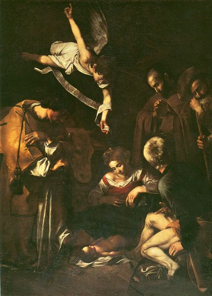 Nativity with St. Francis and St. Lawrence, 1609. Found in the collection of the San Lorenzo, Palermo.
