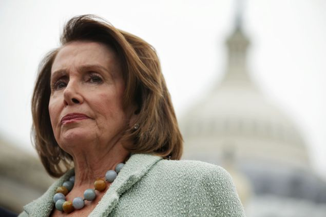 House Minority Leader Rep. Nancy Pelosi (D-CA) listens during a news conference April 21, 2016 on Capitol Hill in Washington, DC. Congressional Democrats held a news conference to call for a raise in the federal minimum wage.