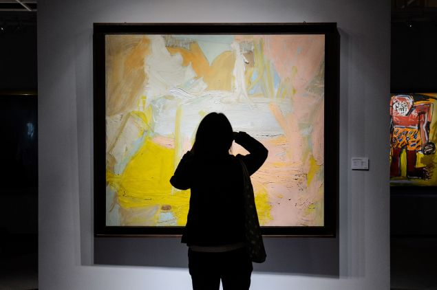 Willem de Kooning's Pastorale, up for sale at Christie's in Hong Kong on November 23, 2016.