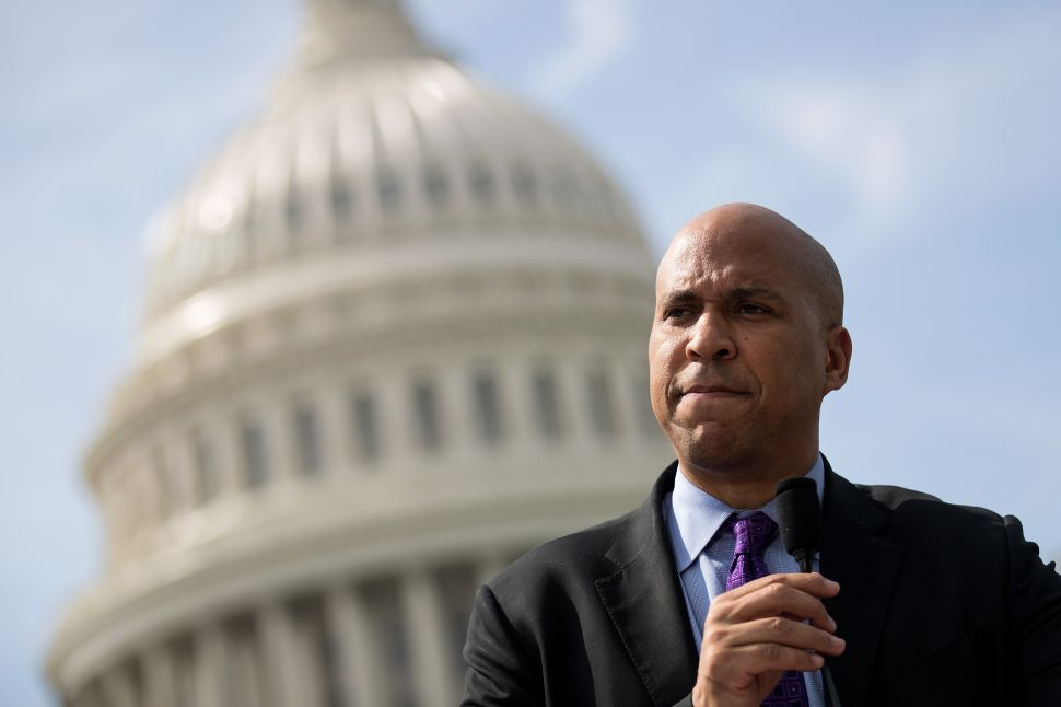 Democratic New Jersey Sen. Cory Booker.