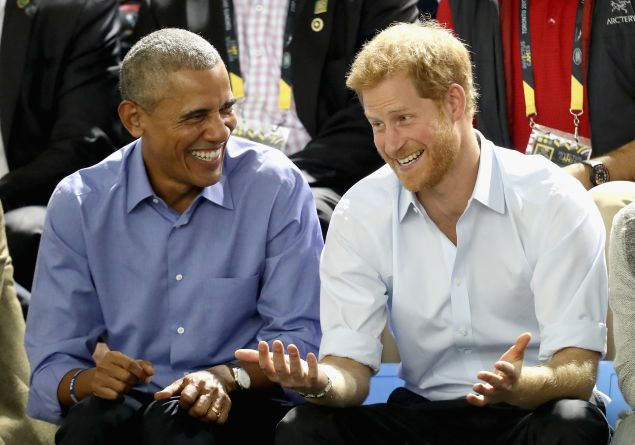 Barack Obama and Prince Harry