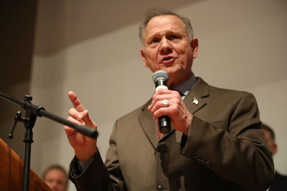 Former Republican Senate candidate Roy Moore.