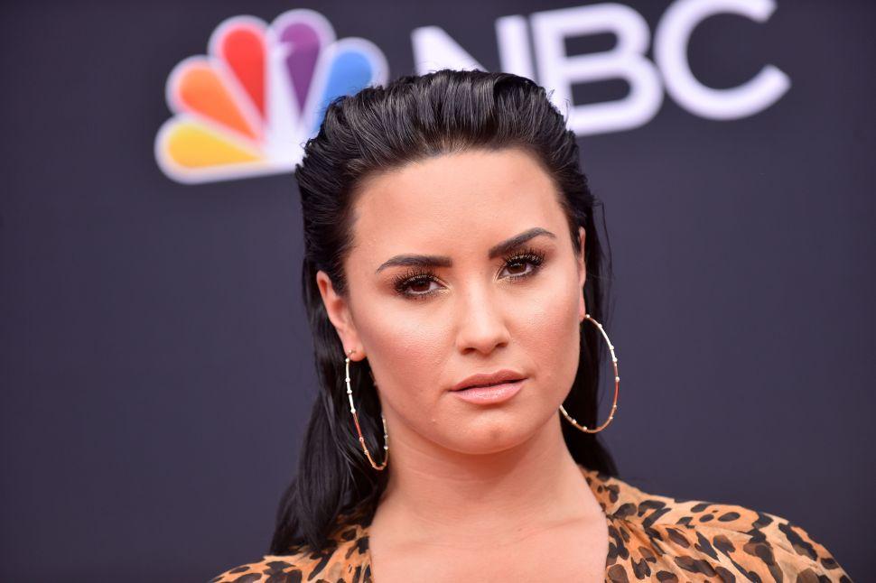 Demi Lovato attends the 2018 Billboard Music Awards.