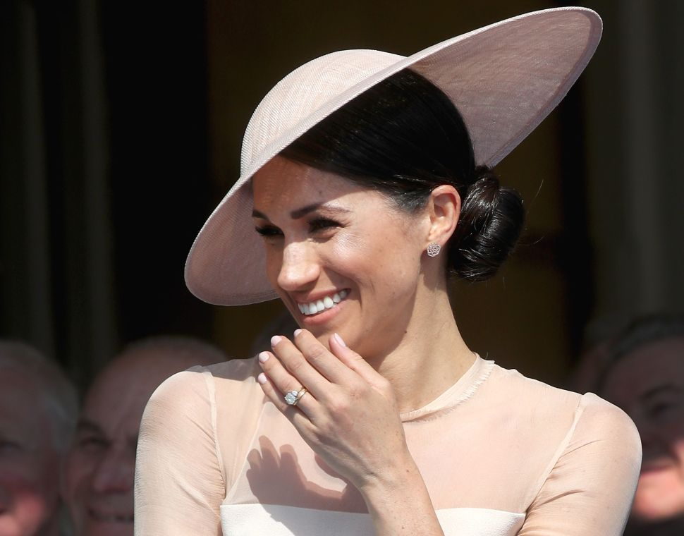 LONDON, ENGLAND - MAY 22: (EDITORS NOTE: Retransmission of #961417648 with alternate crop.) Meghan, Duchess of Sussex attends The Prince of Wales' 70th Birthday Patronage Celebration held at Buckingham Palace on May 22, 2018 in London, England.