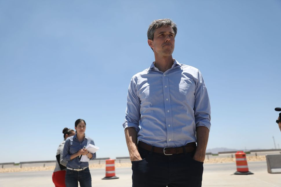 Rep. Beto O'Rourke (D-TX) is running against Senator Ted Cruz (R-TX).