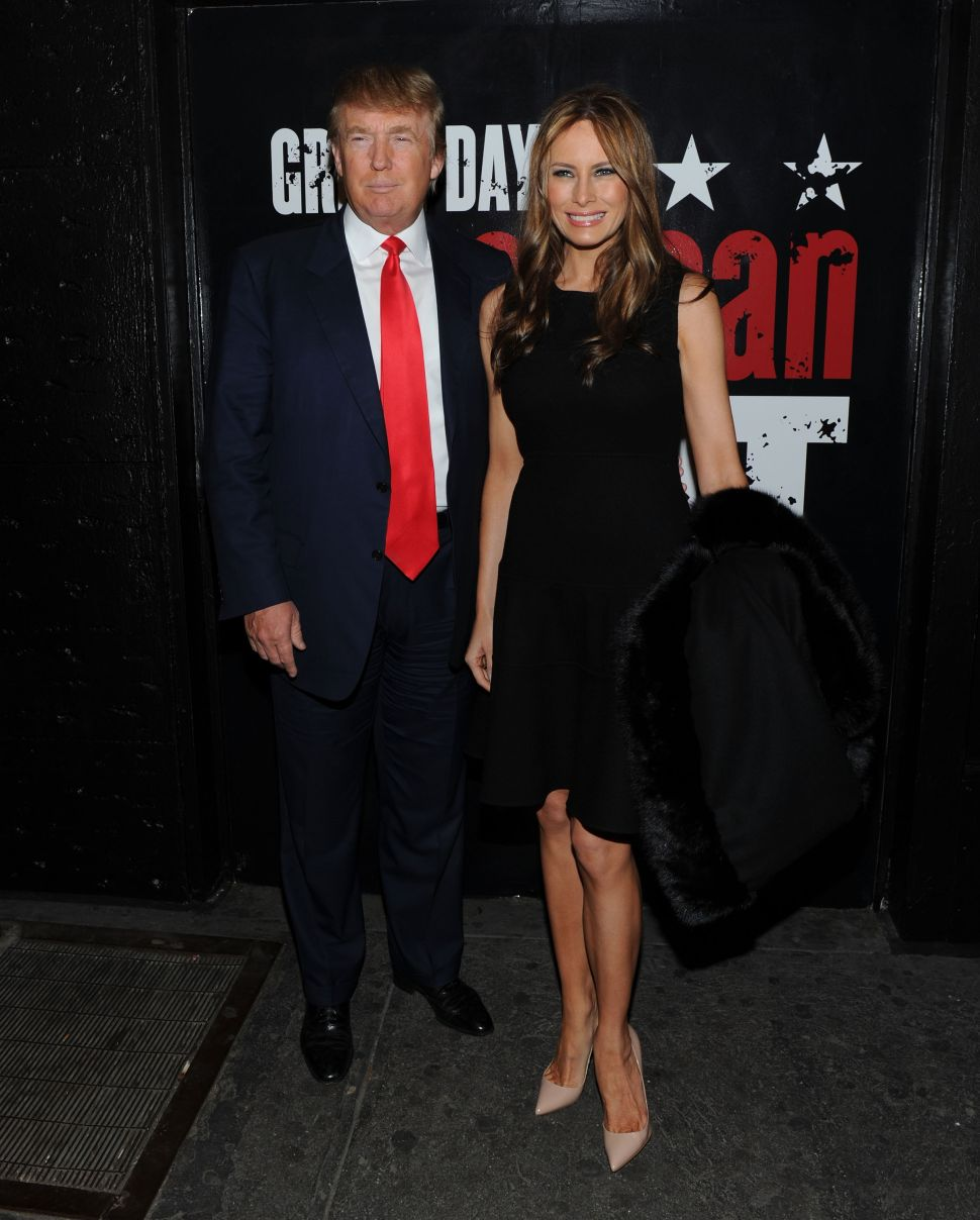 Donald Trump is an 'American Idiot' on Google Images now, but ironically he attended the opening night of 'American Idiot' on Broadway eight years ago.