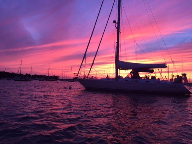 Valfreyja at sunset.