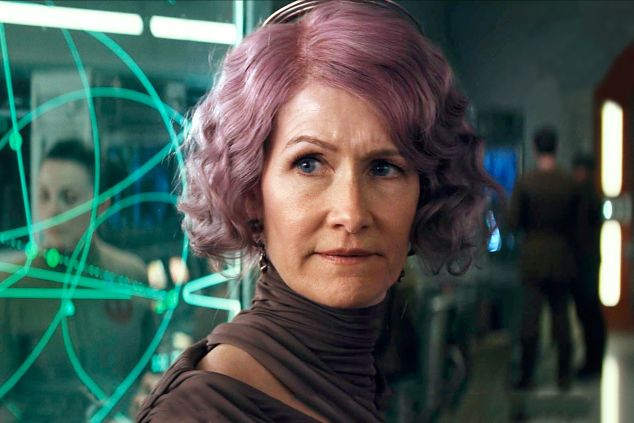 Laura Dern as Vice Admiral Amilyn Holdo in Star Wars: The Last Jedi.