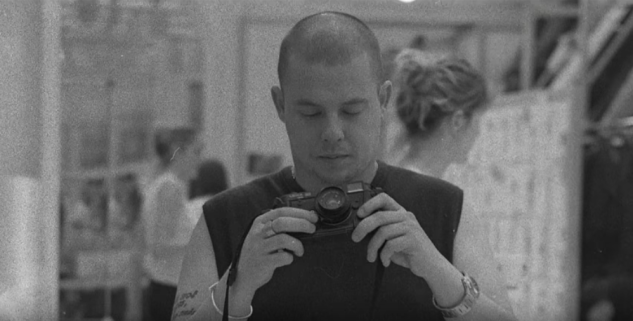 An image of Lee Alexander McQueen as seen in the documentary, McQueen.