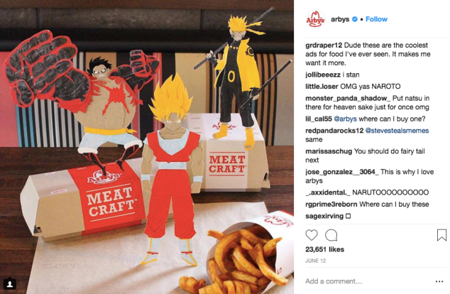 Fans of Arby's box art make their appreciation known on Instagram.