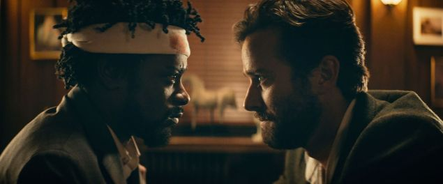 Lakeith Stanfield as Cassius and Armie Hammer as Steve Lift.