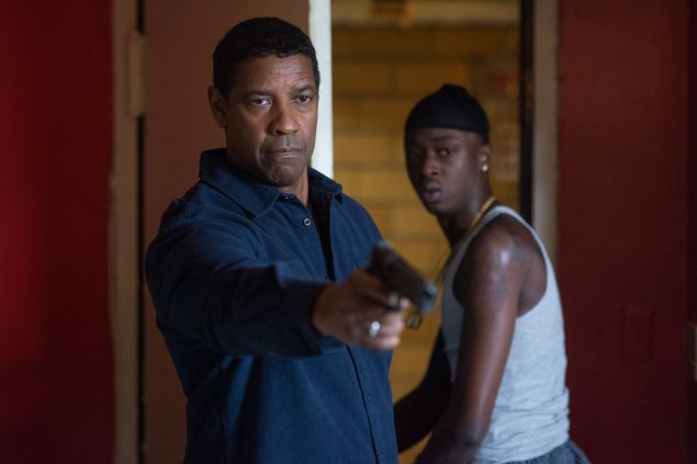 Denzel Washington and Ashton Sanders in The Equalizer 2.