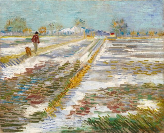 Van Goghs Landsscape With Snow, 1988, the work the White House requested to borrow from the Guggenheim.