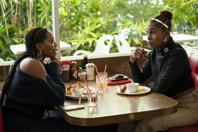 Issa Rae and Yvonne Orji in Season 3 of HBO's Insecure.