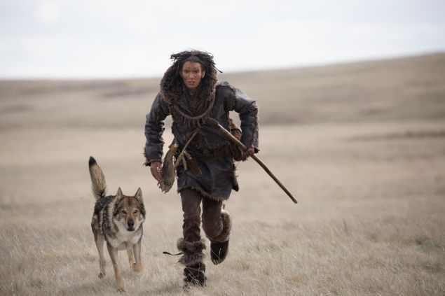 Keda, played by Kodi Smit-McPhee, with Alpha in Alpha.
