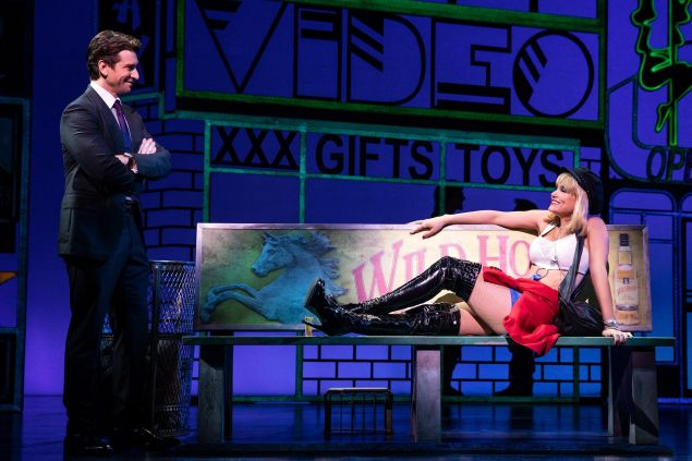 Samantha Barks and Andy Karl in <i>Pretty Woman: The Musical.</i>