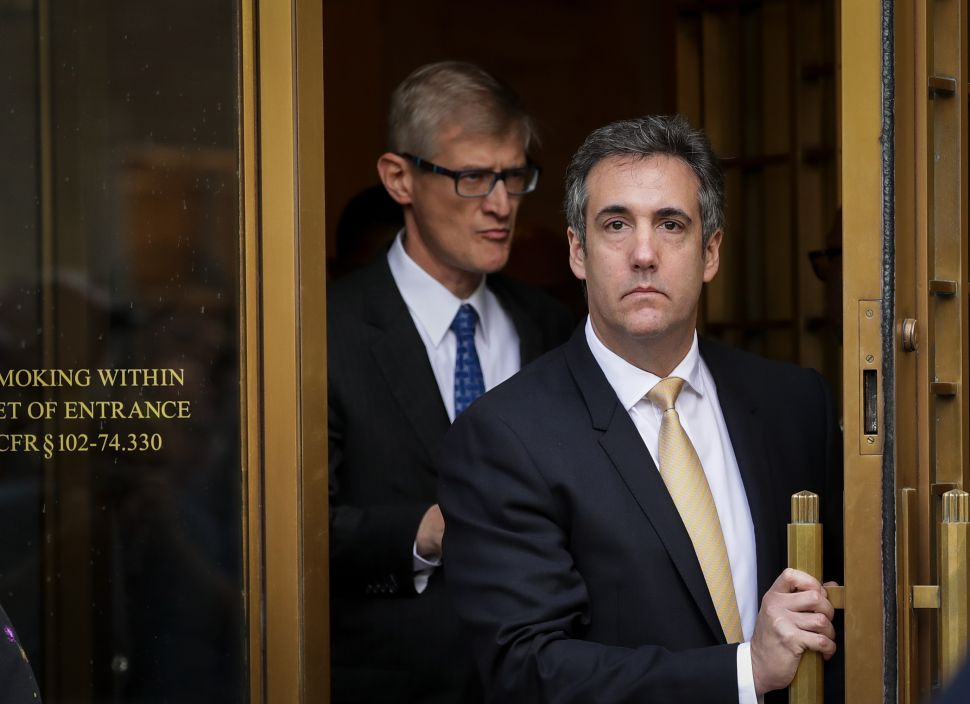 Michael Cohen, President Donald Trump's former personal attorney and fixer, exits federal court.