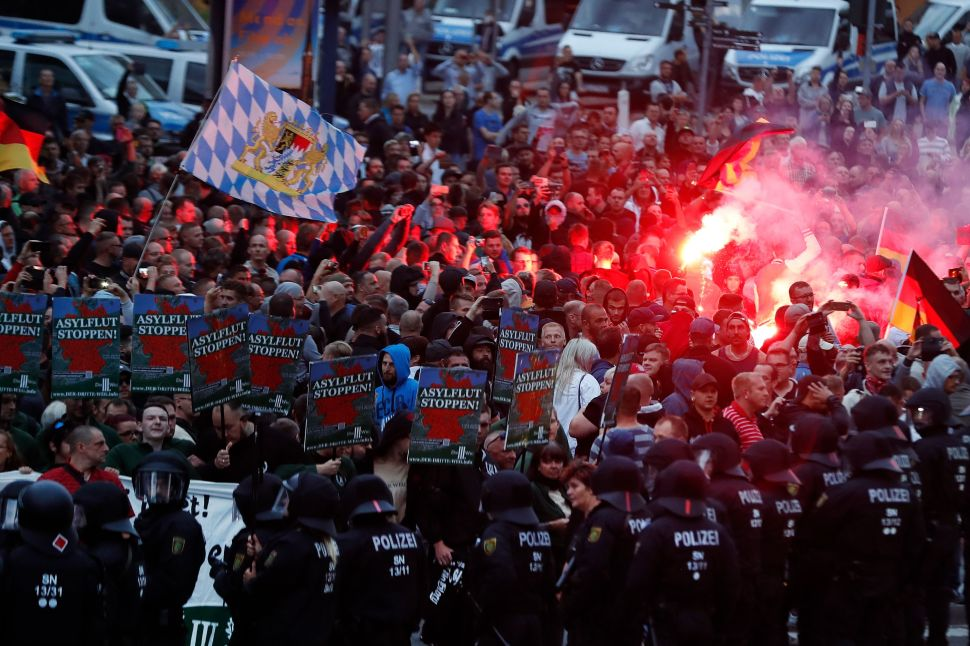 Far-right demonstrators in Chemnitz, Germany this week.