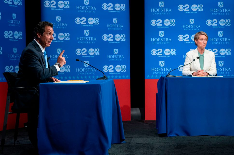 The New York Times covered Andrew Cuomo and Cynthia Nixon's debate answers in vastly different ways.
