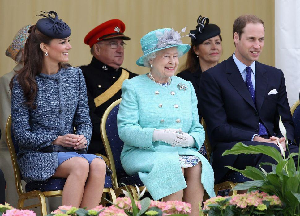 Queen Elizabeth, Prince William, Kate Middleton
