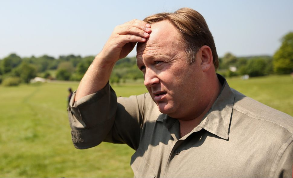 Alex Jones, an American radio host, author and conspiracy theorist.