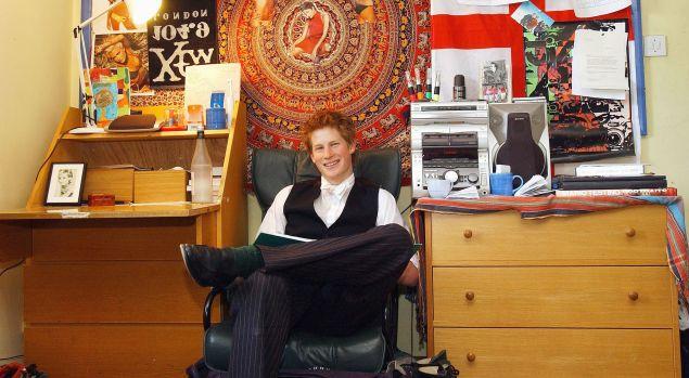 Prince Harry Eton College Dorm room