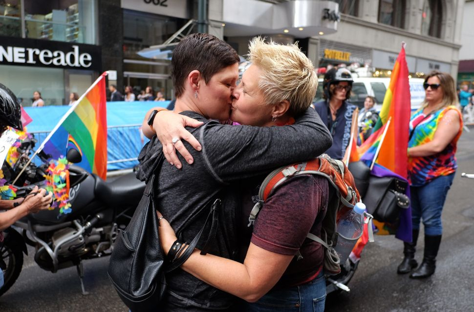 Same-sex couples like this one have been a fixture of The New York Times wedding section for 16 years.