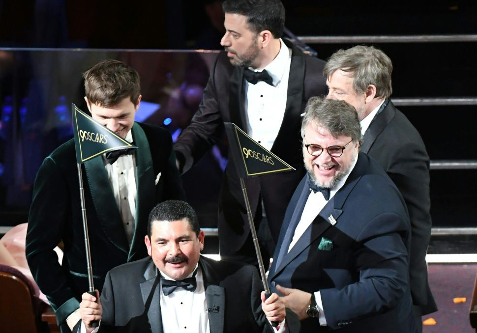 Guillermo del Toro at the 90th Annual Academy Awards.