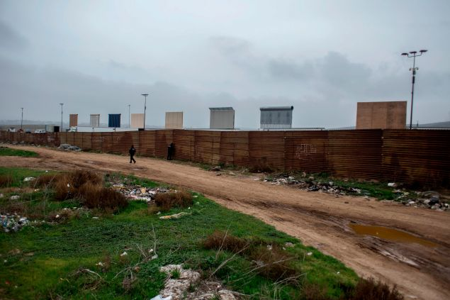 Prototypes of the border wall.